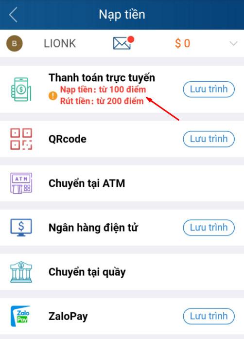 cách nạp tiền kubet thanh toán trực tuyến