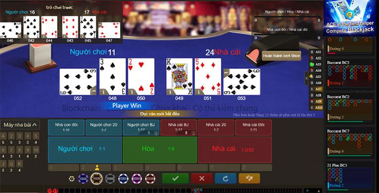 Cách tổ chức một bàn chơi Blackjack